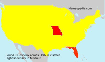Familiennamen Desneux - USA