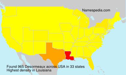 Surname Desormeaux in USA