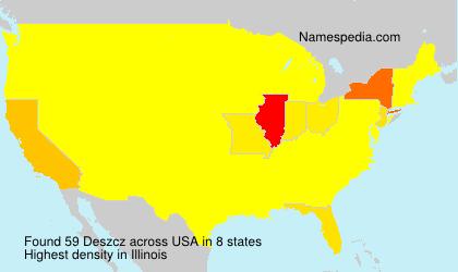 Familiennamen Deszcz - USA