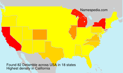 Surname Detamble in USA
