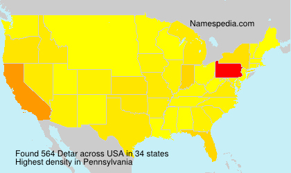 Surname Detar in USA