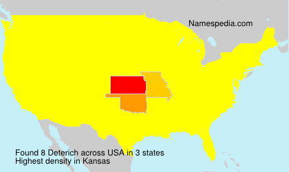 Surname Deterich in USA
