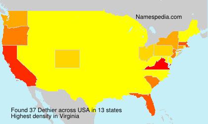 Surname Dethier in USA