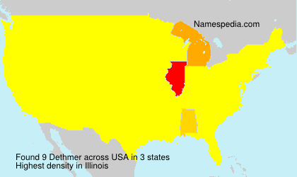 Surname Dethmer in USA
