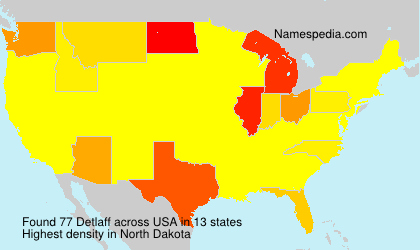 Surname Detlaff in USA