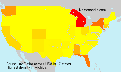 Surname Detlor in USA