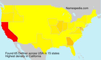Surname Dettner in USA