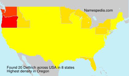 Surname Dettrich in USA
