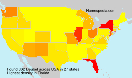 Surname Deubel in USA