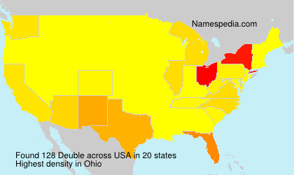Surname Deuble in USA
