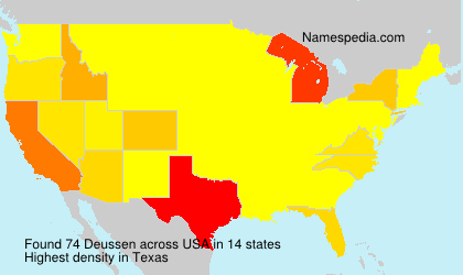 Surname Deussen in USA