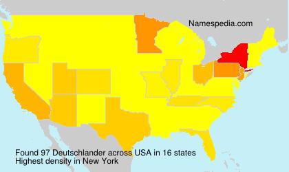 Familiennamen Deutschlander - USA