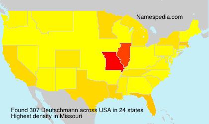 Surname Deutschmann in USA
