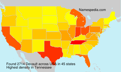 Surname Devault in USA
