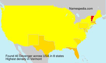Surname Devenger in USA