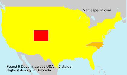 Surname Devenir in USA