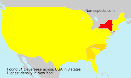 Surname Devereese in USA