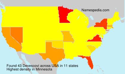 Surname Devescovi in USA