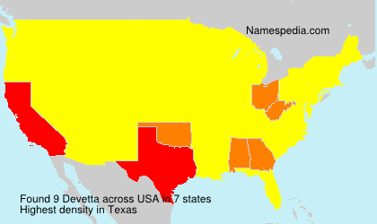 Surname Devetta in USA