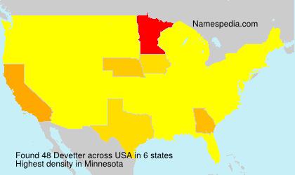 Surname Devetter in USA