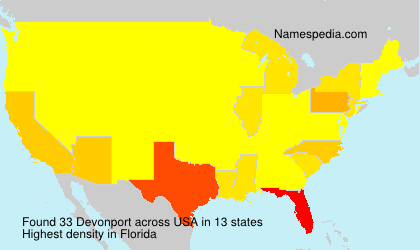 Surname Devonport in USA