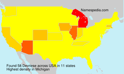 Surname Devriese in USA