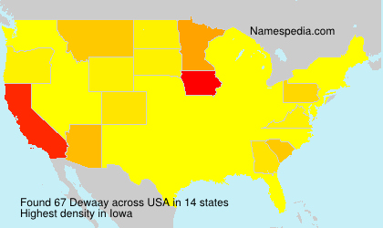 Surname Dewaay in USA
