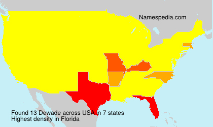 Surname Dewade in USA