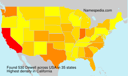 Surname Dewell in USA