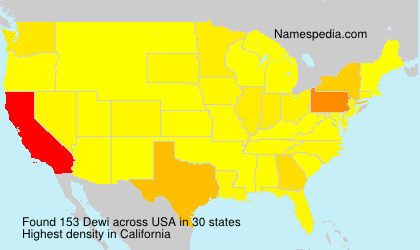 Surname Dewi in USA