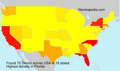 Familiennamen Dextre - USA