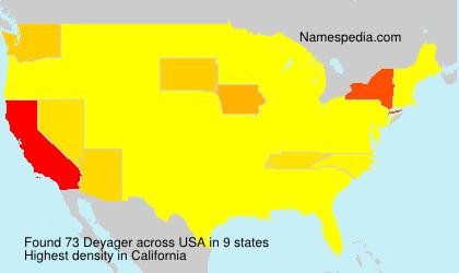 Familiennamen Deyager - USA