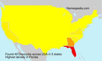 Surname Deyounks in USA