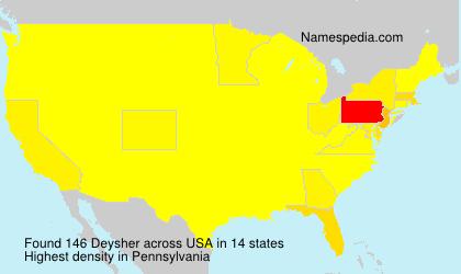 Surname Deysher in USA