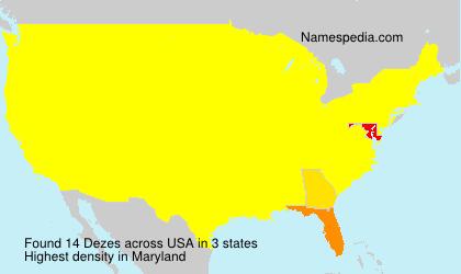 Familiennamen Dezes - USA