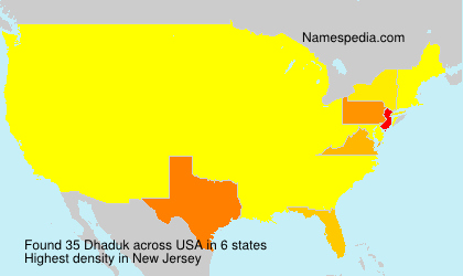 Surname Dhaduk in USA