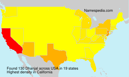 Surname Dhanjal in USA