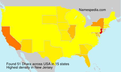 Surname Dhara in USA