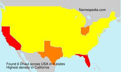 Surname Dhaul in USA