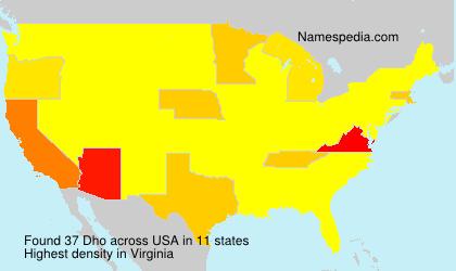 Familiennamen Dho - USA