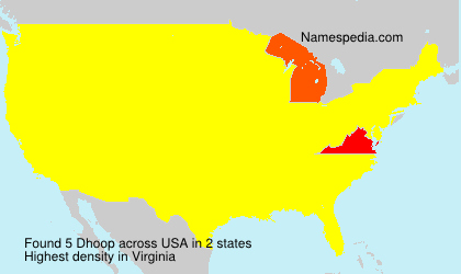 Surname Dhoop in USA