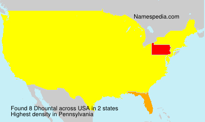 Surname Dhountal in USA