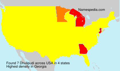 Surname Dhulipudi in USA
