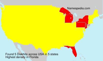 Surname Diakhite in USA