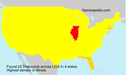 Surname Diakoumis in USA