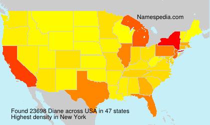 Familiennamen Diane - USA