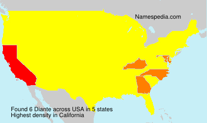 Surname Diante in USA