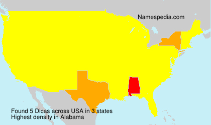 Surname Dicas in USA