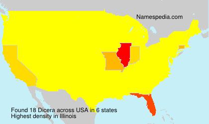 Surname Dicera in USA