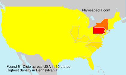 Familiennamen Dicio - USA